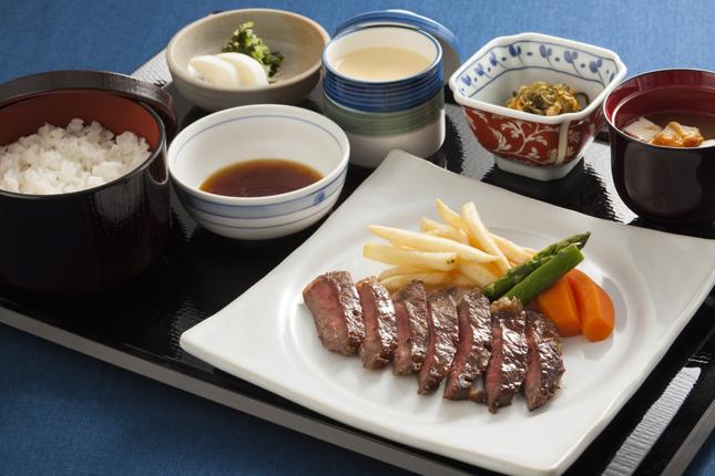 広島県産牛ステーキ定食
