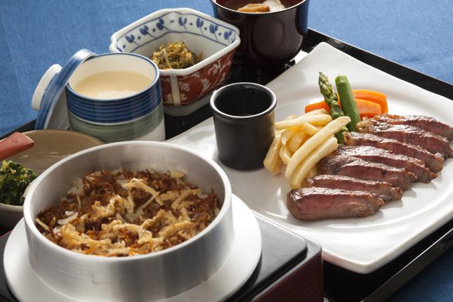 広島県産牛ステーキ御膳