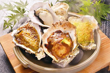 焼き牡蠣4種味くらべ