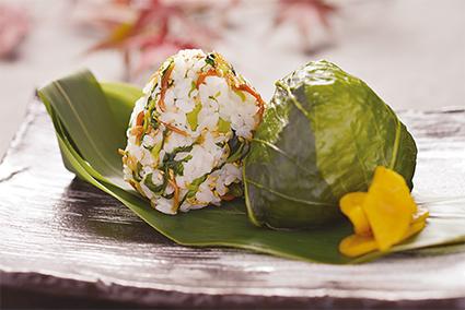 広島菜と音戸ちりめんむすび