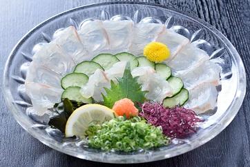 生ちり ~白身魚薄造り~