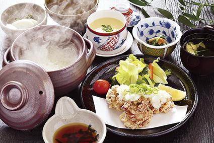 広島産鶏唐揚げおろしネギポン酢定食