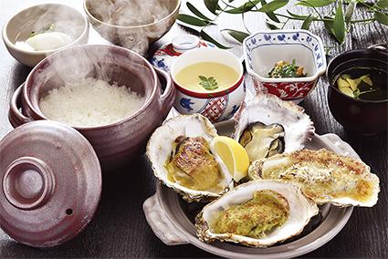 牡蠣4種味くらべ定食
