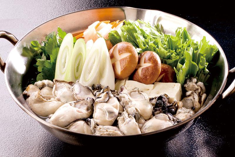 牡蠣玉子とじ鍋(写真は3人前)